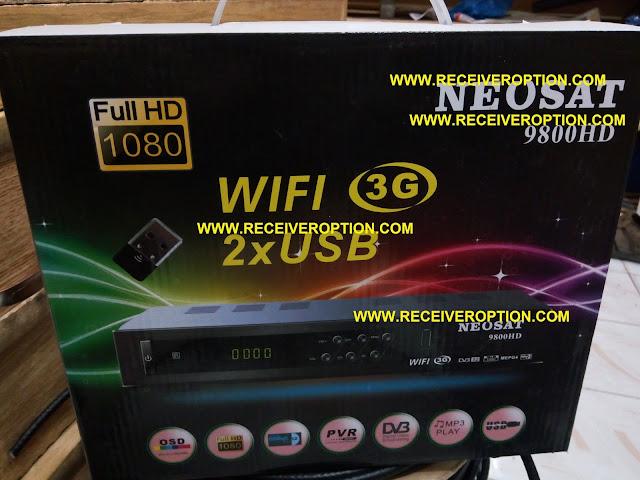 NEOSAT 9800 HD RECEIVER POWERVU KEY OPTION