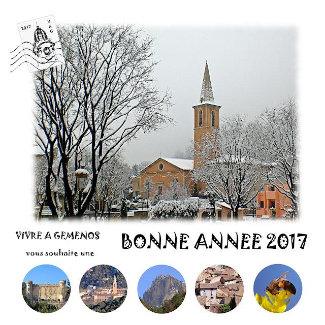 Vivre à Gémenos vous souhaite une Bonne Année 2017