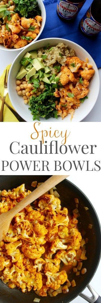 This Spicy Cauliflower Power Bowl is so easy to throw together, super flavorful, and is naturally dairy free and gluten free!