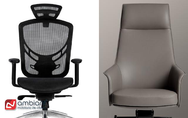 Sillones y sillas de oficina