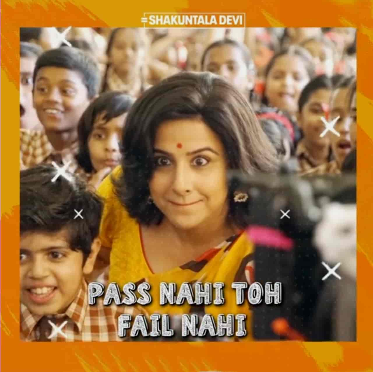 Pass Nahi Toh Fail Nahi Hindi Song Image From Movie Shakuntala Devi Features Vidya Balan