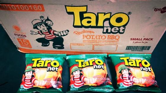 kisah taro snack terkenal