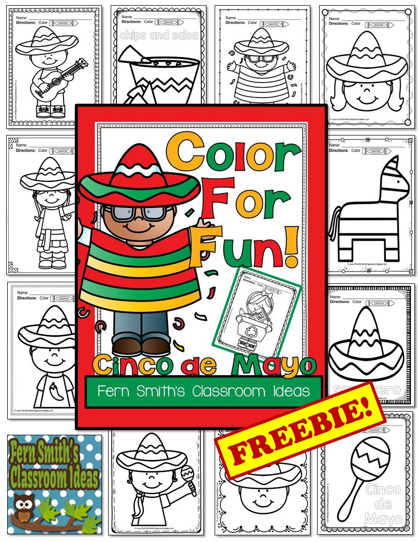 FREE Cinco de Mayo Fun! Color For Fun Printable Coloring Pages