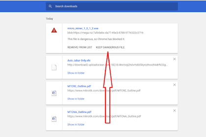 Cara Mengatasi File Download Di Blokir Oleh Chrome