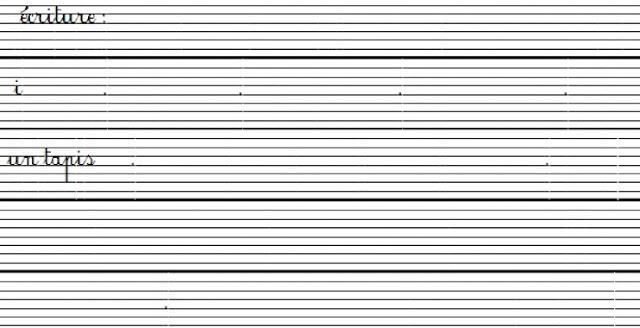المستوى الثالث:كراسة الخط  وفق مرجع mes apprentissages