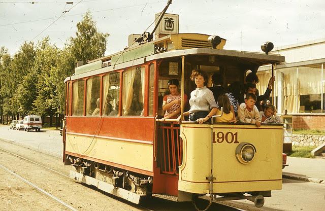 1984 год. Рига. Улица Ленина. Экскурсионная поездка по городу на ретро-трамвае