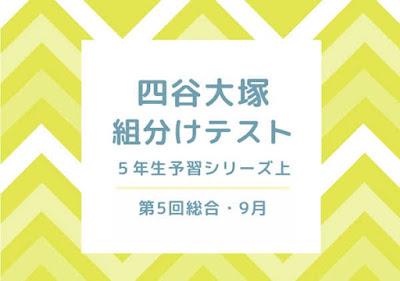 四谷大塚組分けテスト5年4回目