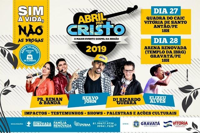 Abril para Cristo: maior evento gospel da região será realizado em Gravatá neste domingo (28)