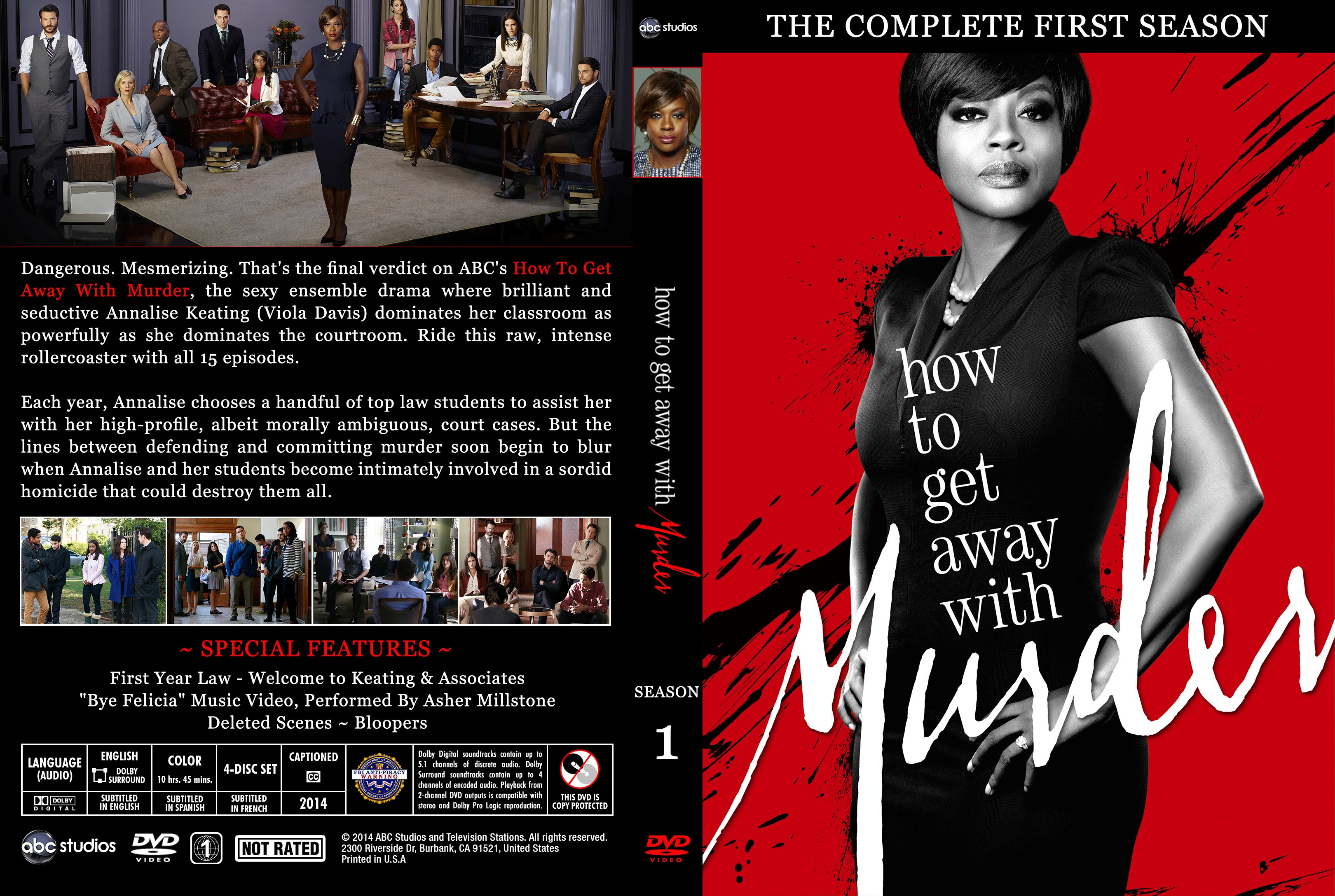 How To Get Away With Murder Season 1 DVD Cover - Cover ... - photo#42