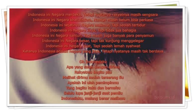 Gambar puisi kritikan untuk pemimpin Indonesia