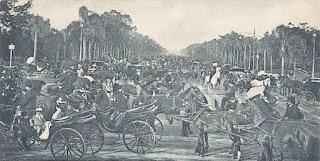 Avenida Sarmiento, en el Barrio de Palermo, en Buenos Aires.