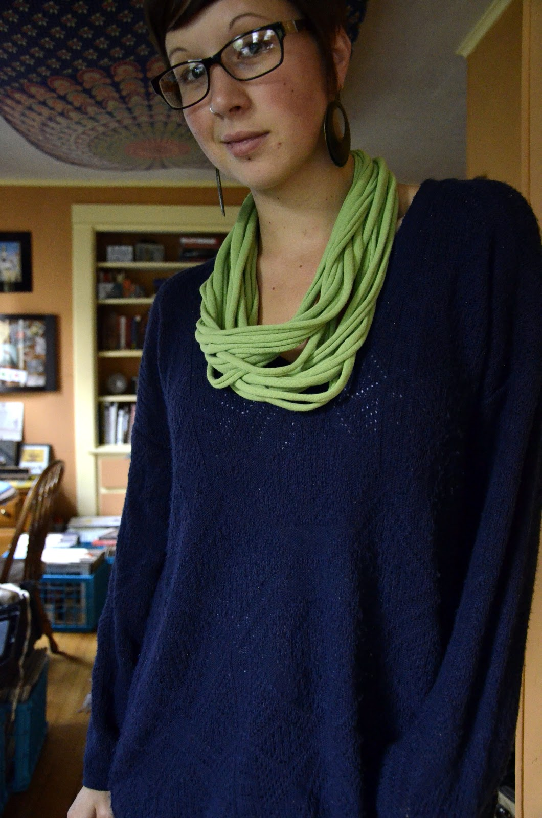Diy Tshirt Scarf Hello There Handmade Banner No Sew T Shirt Infinity Scarf