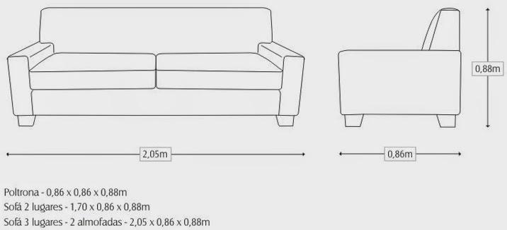 Fabrica o e reforma de estofados sob medida 05 21 14 for Medidas de sofas pequenos