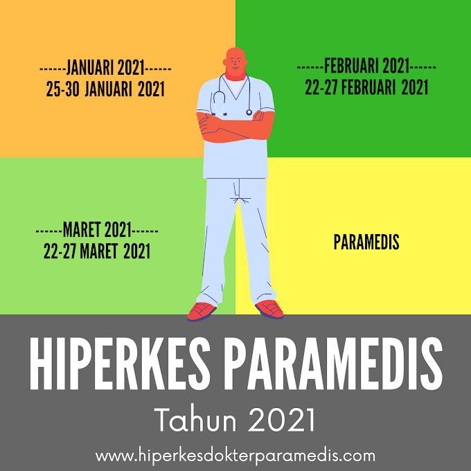 Jadwal pelatihan Hiperkes Tahun 2020-2021 PARAMEDIS (Perawat, Bidan, SKM, Analis)
