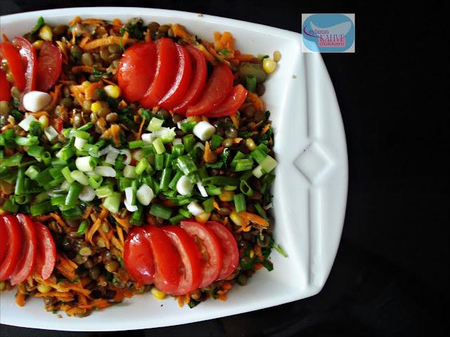 yeşil mercimek salatası , mercimek salatası tarifi