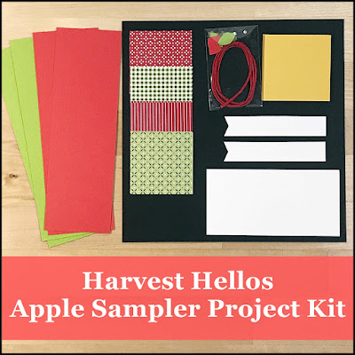 Fun fall home decor sampler with Harvest Hellos stamp set.