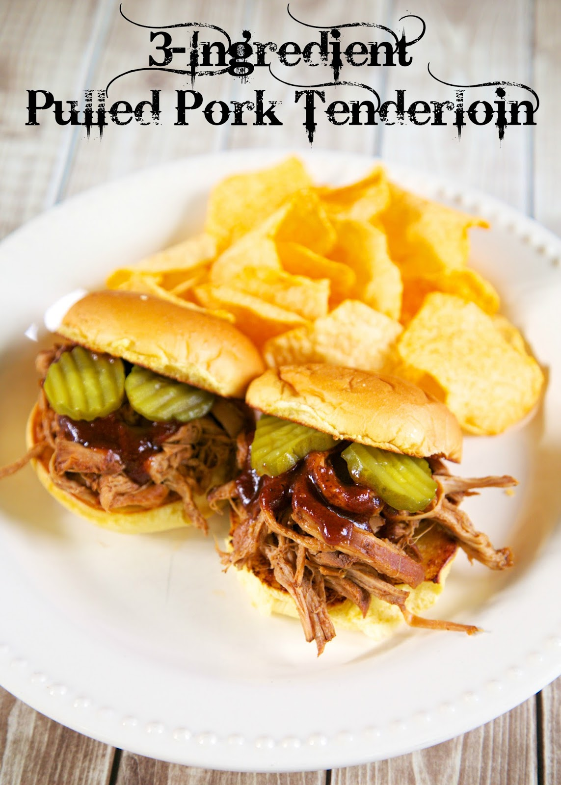 3 ingredient pulled pork tenderloin - Dinner with only three ingredients? Yep! All you need is pork tenderloins, Coke, and BBQ sauce and you can have a delicious dinner without any fuss! The pork cooks all day in the slow cooker and is ready to shred when you get home from work! SO easy! YUM!!!