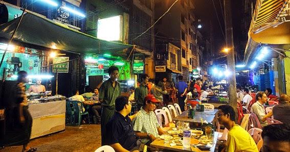 Night in Yangon Chinatown