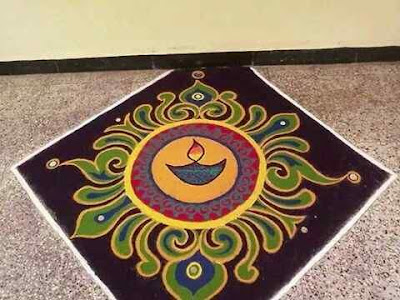 New and Latest New Year Rangoli Design Picture
