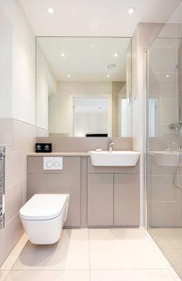 แบบห้องน้ำขนาดเล็กและชักโครกติดผนัง