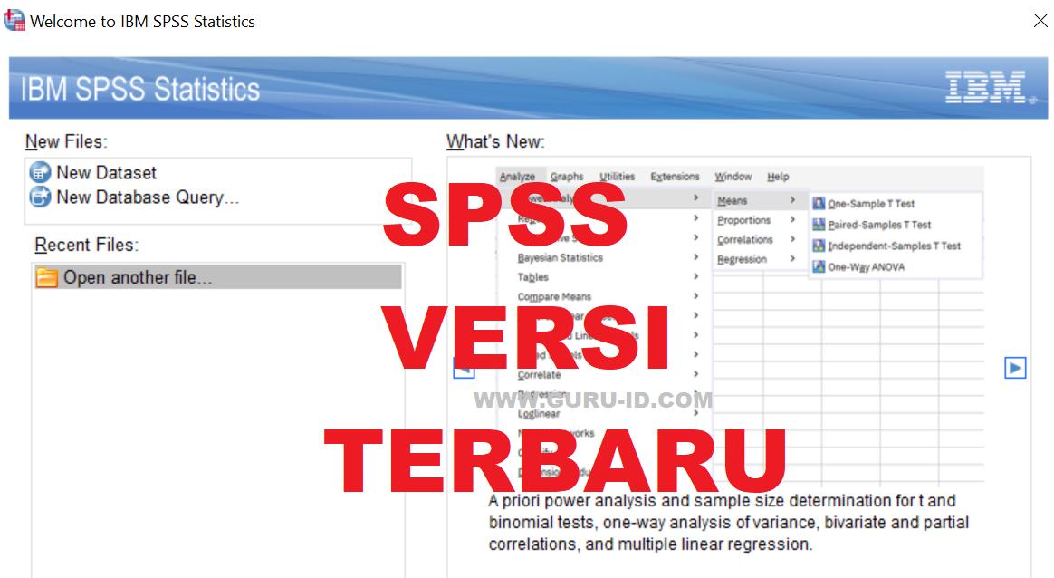gambar aplikasi spss versi baru