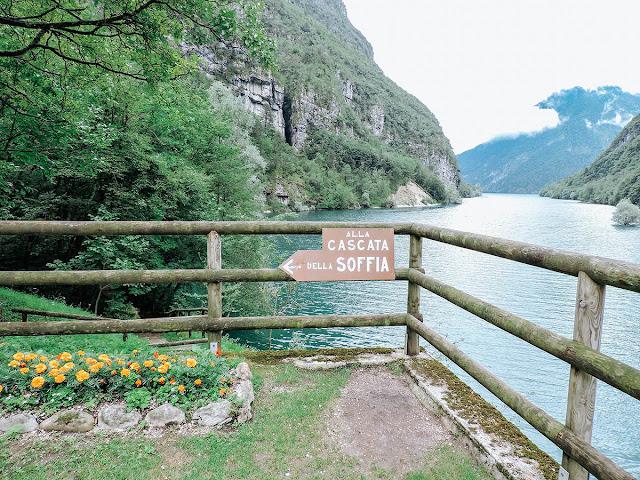 sentiero della cascata della soffia