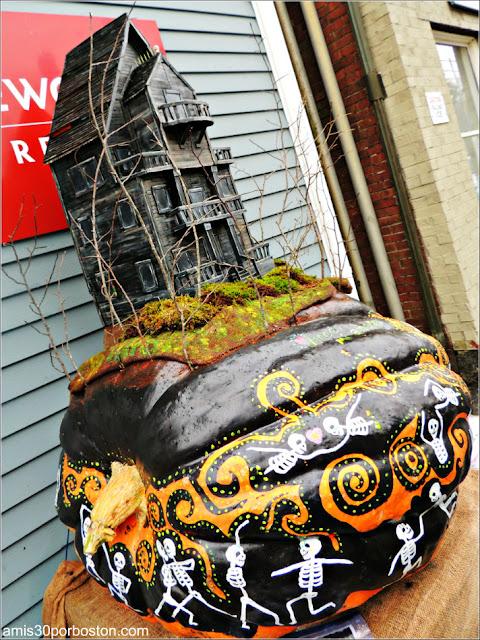 Calabazas Decoradas para Halloween: Mansión Encantada