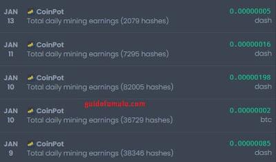 Bukti penghasilan bitcoin