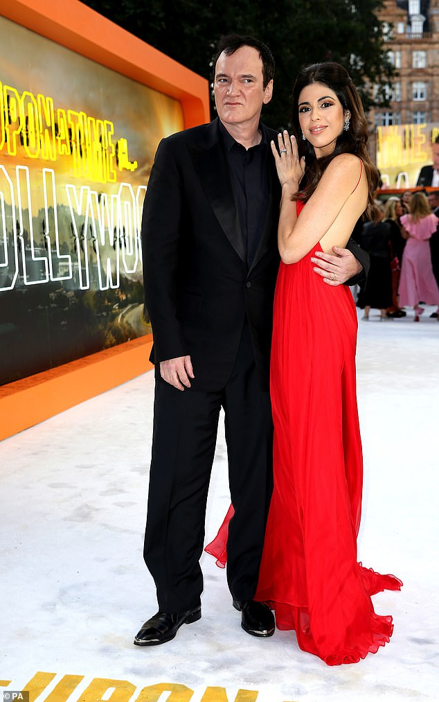 Quentin Tarantino, 56, looks smitten with glamorous wife Daniella Pick, 35, at the Once Upon A Time In Hollywood London premiere