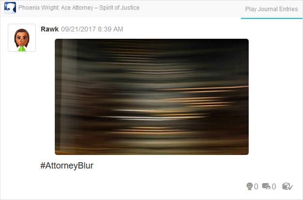 Phoenix Wright Ace Attorney Spirit of Justice blur