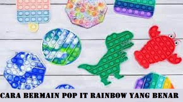 Cara Bermain Pop it Rainbow Yang Benar