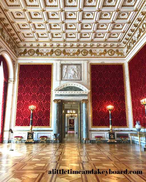 The Velvet Reception Room heralds the royal thrones to come at Christiansborg Palace in Copenhagen