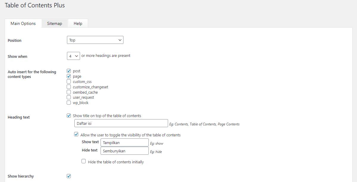 Cara Membuat Table Of Contents di Blog