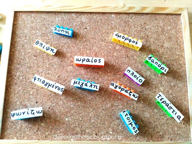 συνώνυμα, λεξιλόγιο, δυσλεξία
