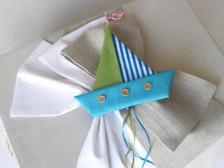 κουτί βάπτισης με γαλαζοπράσινο καραβάκι