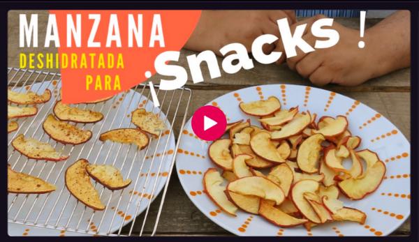 Video Manzana deshidratada crujiente