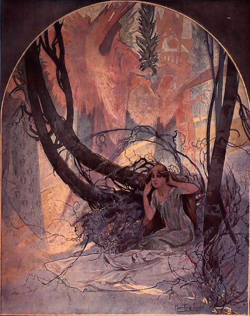 Альфонс Муха - Пасха. Пробуждение природы. 1896