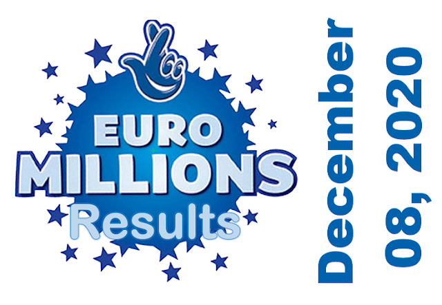 EuroMillions Results for Tuesday, December 08, 2020