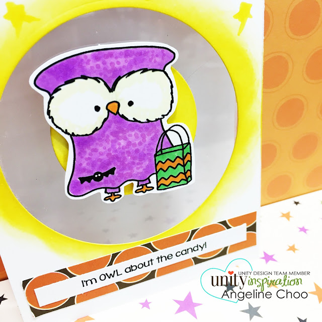 ScrappyScrappy: BIG Blog Hop + [NEW VIDEOS] with Unity Stamp - Happy Owl'oween #scrappyscrappy #unitystampco #stamp #stamping #card #cardmaking #halloween #papercraft #copic #distressink