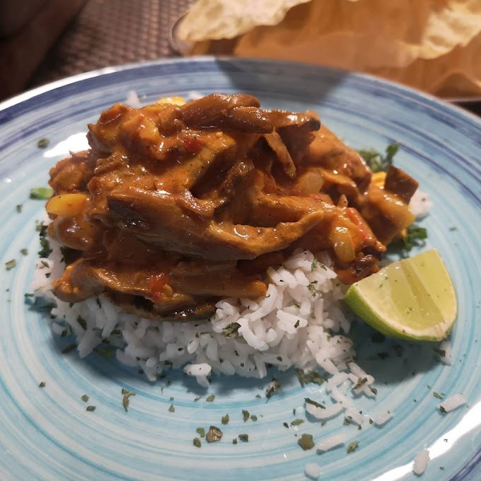 Champiñones al curry