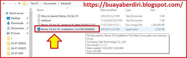 Tools Instalasi RemixOS dual boot dengan Windows