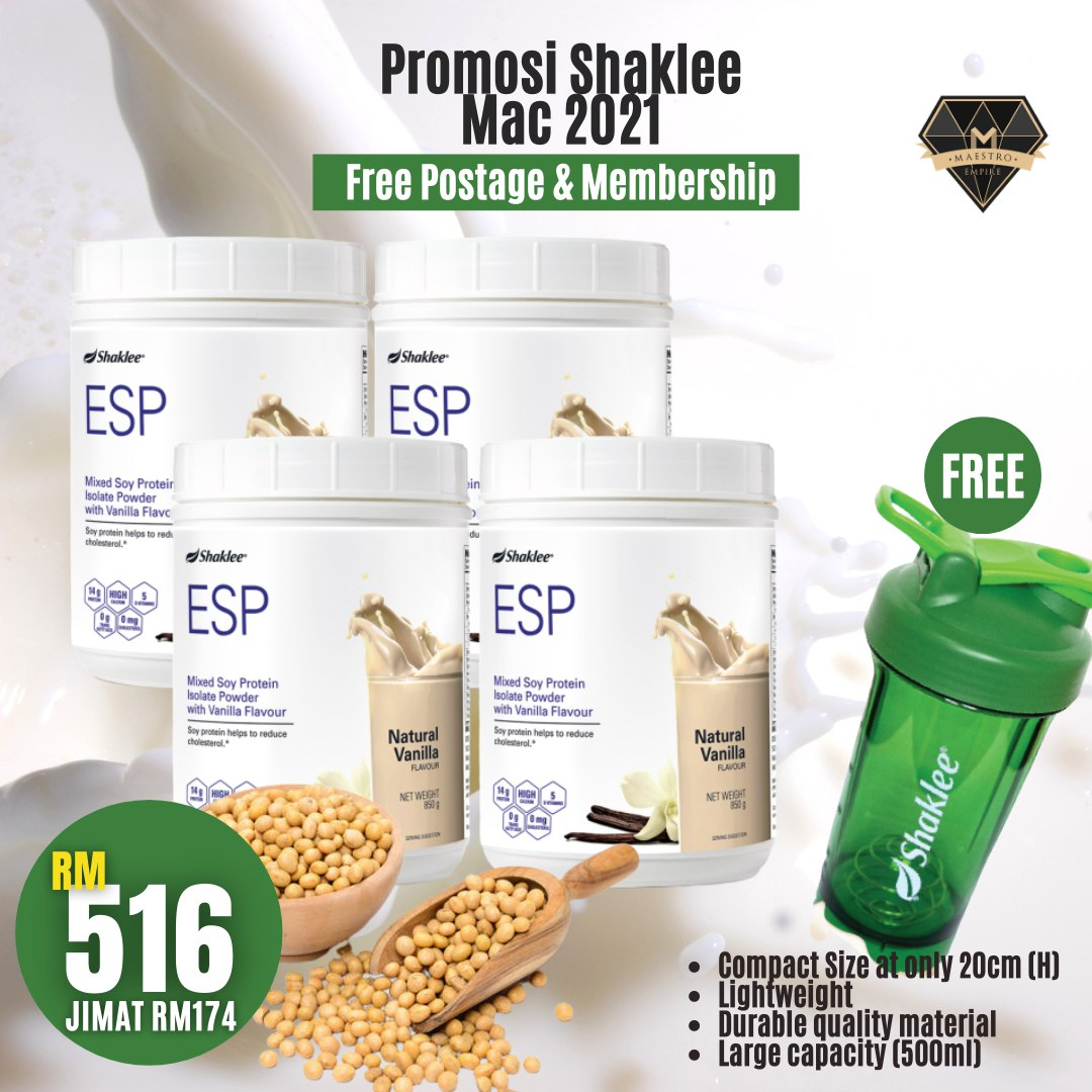 Promosi Shaklee March 2021 - ESP Buy 4 Get Free Shaker Exclusive