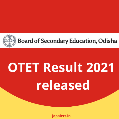 OTET Result 2021 released, here is the direct link