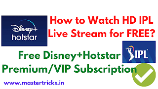 Watch IPL for FREE in HD