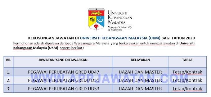 Jawatan Kosong Terkini di Universiti Kebangsaan Malaysia (UKM).