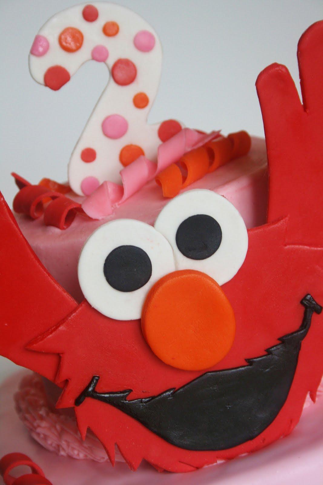 And Everything Sweet Girly Elmo Cake