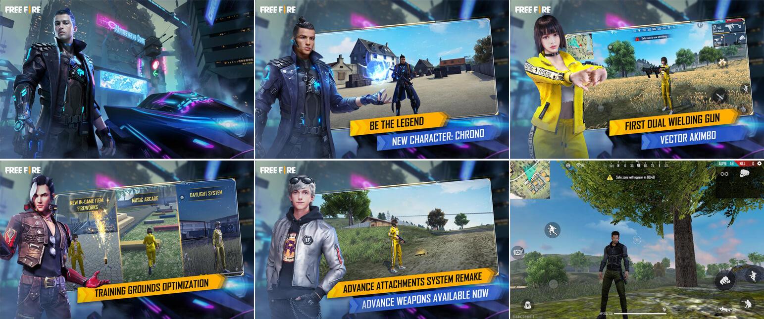 لقطات شاشة لعبة فري فاير Free Fire للموبايل