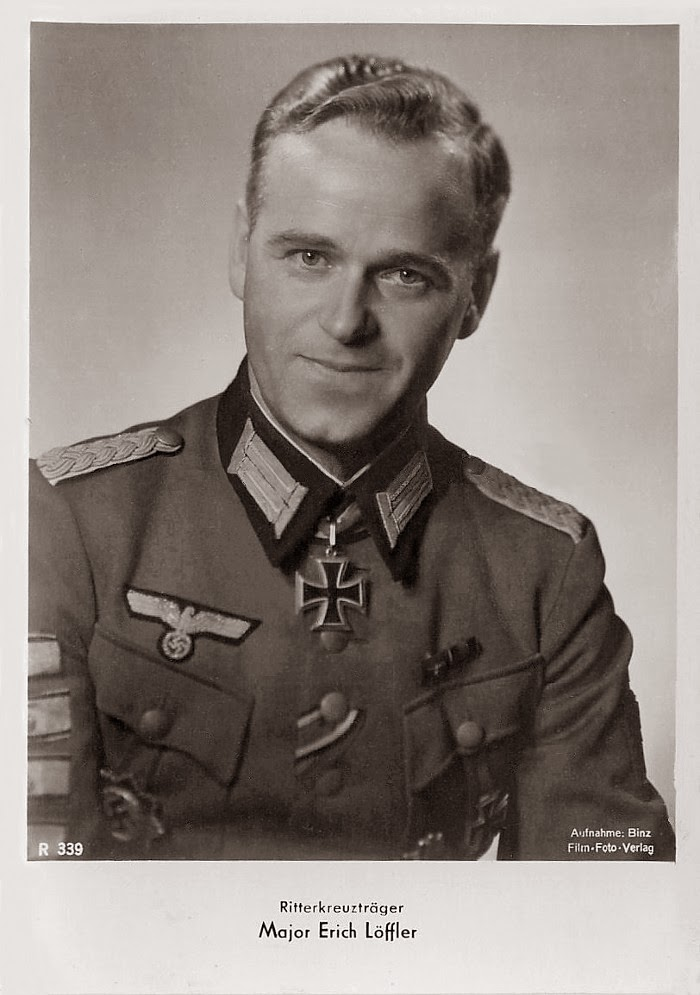Erich Löffler Ritterkreuzträger Knight Cross Holder Postcard