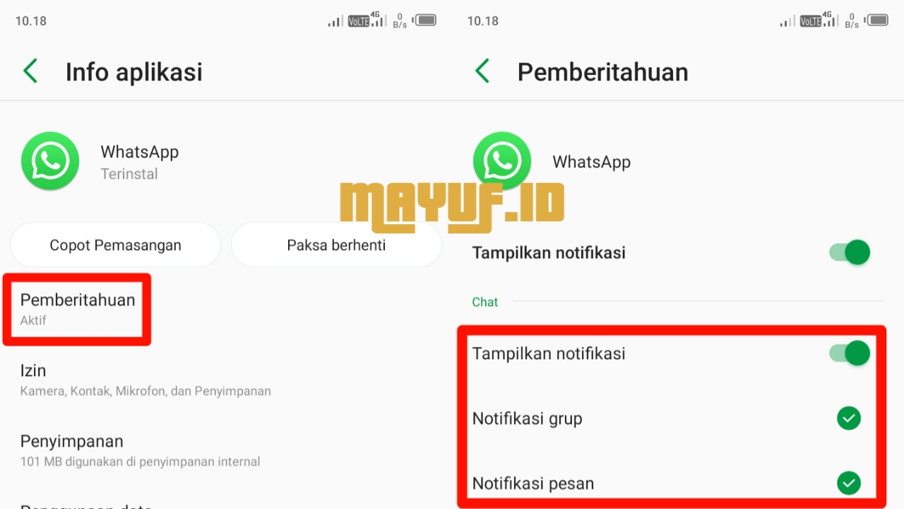 Cara Menonaktifkan Semua Notifikasi Di WhatsApp