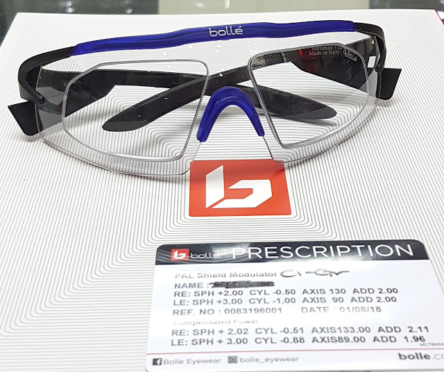 Bolle prescription trivex lens performance model